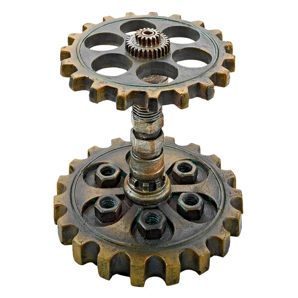 Industrial Steampunk Dual Gear Pen Holder by Design Toscano