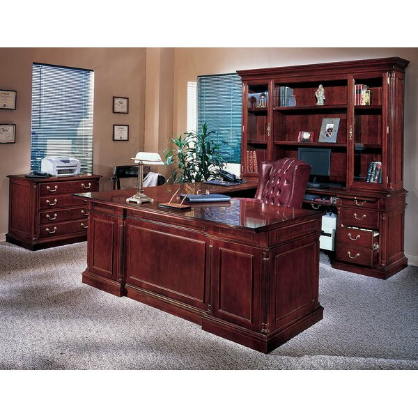 Flannagan 3-Piece U-Shape Desk Office Suite by Three Posts