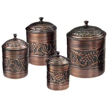 Lovely Heritage 4 Piece Kitchen Canister Set