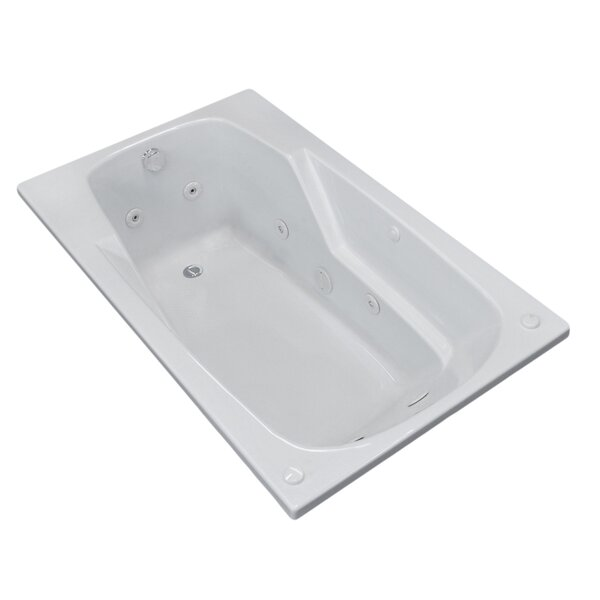Anguilla 71 x 41.38 Rectangular Whirlpool Jetted Bathtub with Drain by Spa Escapes