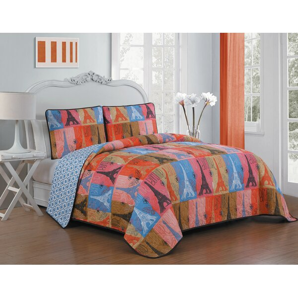 Esplanade 2 Piece Reversible Quilt Set by Winston Porter