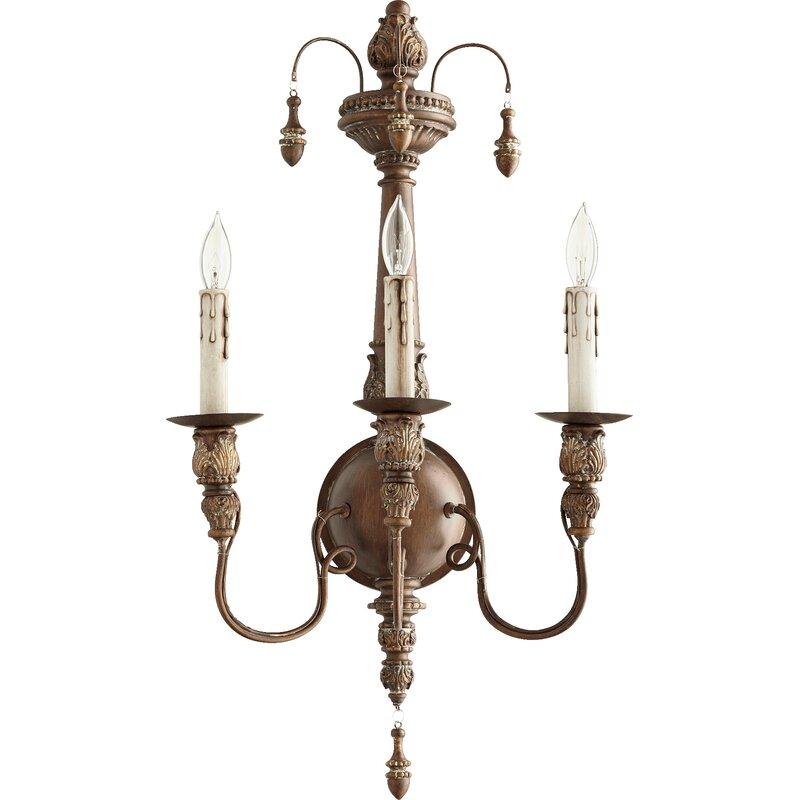 Paladino 3-Light Candle Wall Light