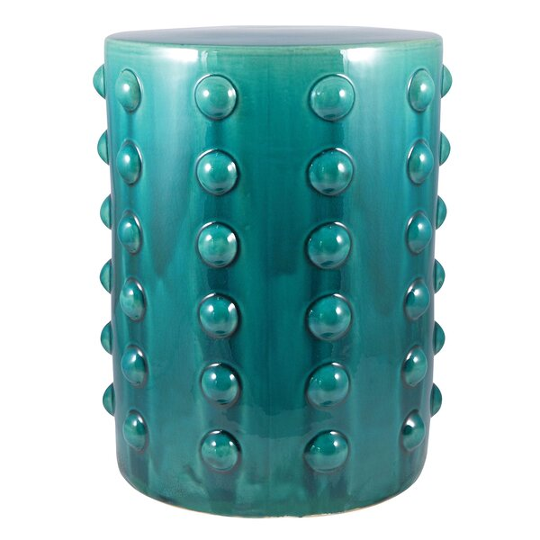 Beecher Coastal Accent Stool by World Menagerie
