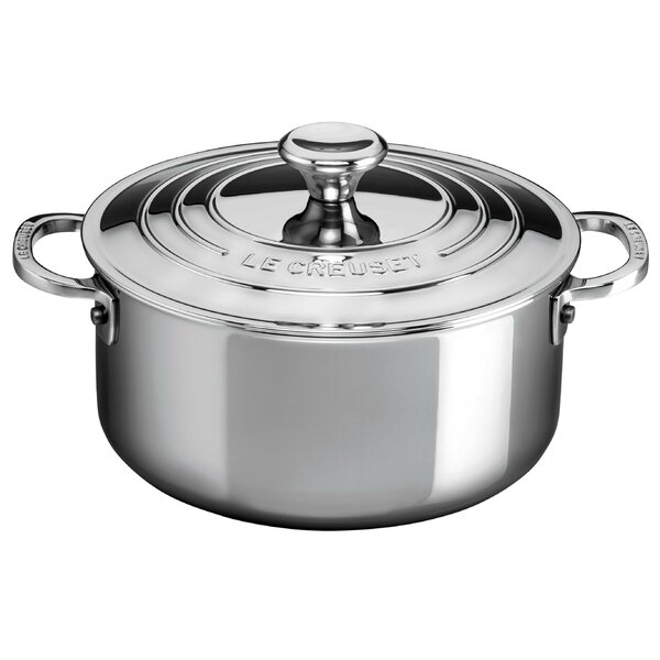 Stainless Steel Round Casserole by Le Creuset