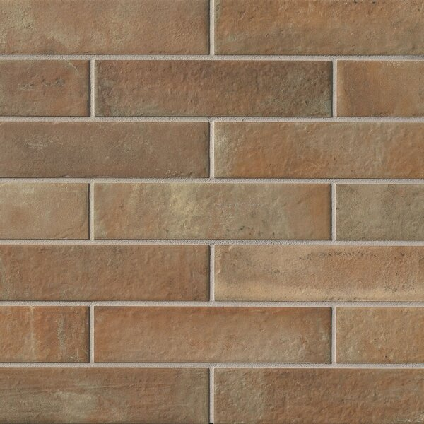 9.75 x 2.38 Porcelain Field Tile in Brown by Grayson Martin