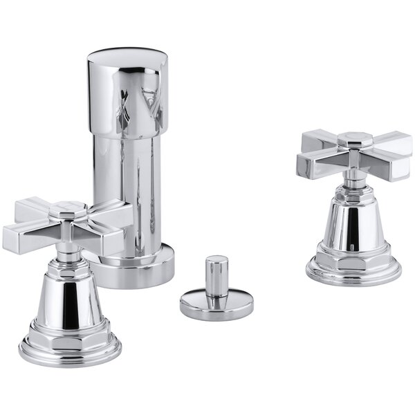 Pinstripe Vertical Spray Bidet Faucet with Cross Handles by Kohler