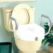 E-Z Lock Raised Toilet Seat with Arms by Carex