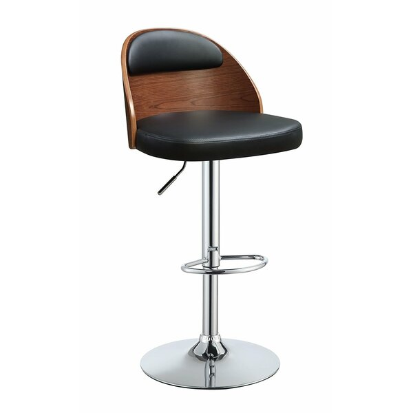 Douglaston Adjustable Height Swivel Bar Stool by George Oliver