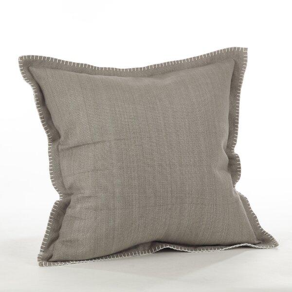 Celena Whip Stitched Flange Cotton Throw Pillow by Saro