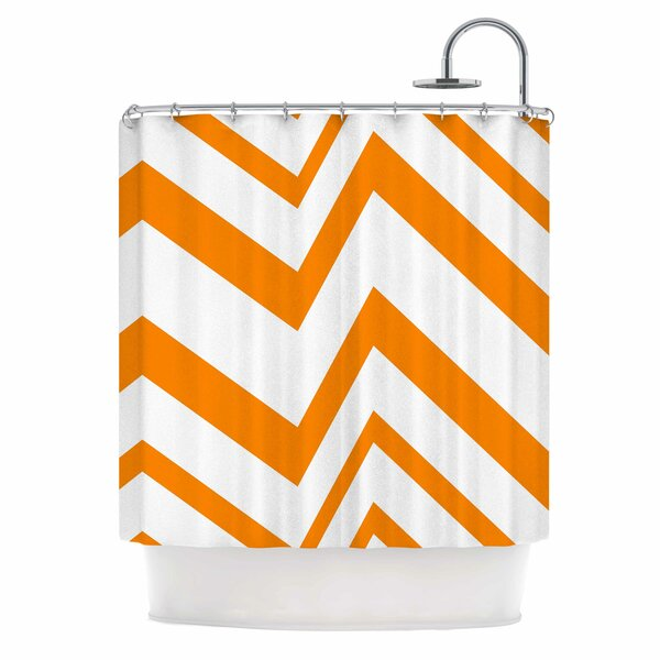 Zig Zag Shower Curtain by East Urban Home