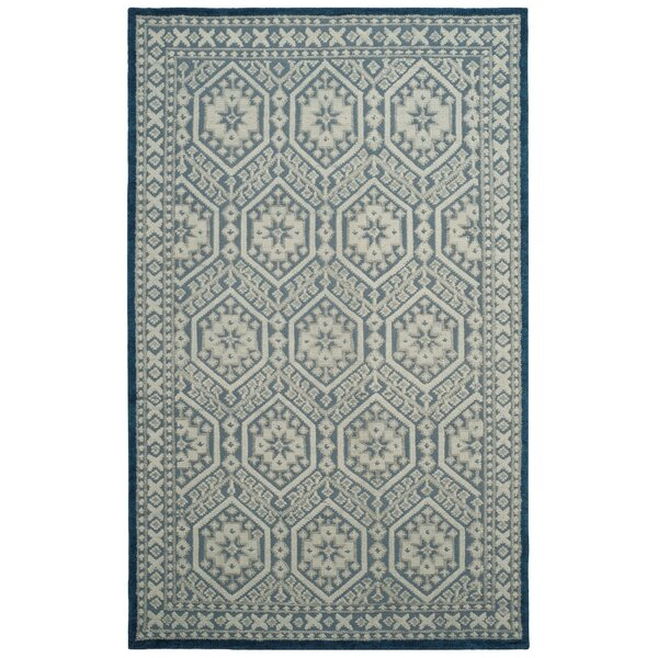 Baum Hand-Knotted Blue Area Rug by Darby Home Co