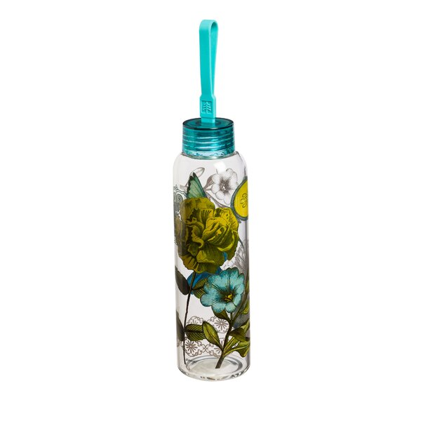 Bynes Aviary 18 oz. Glass Travel Tumbler by Latitude Run