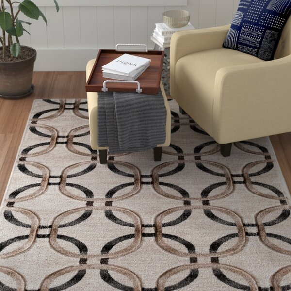Charmaine Hand Carved Cream Area Rug by Winston Porter