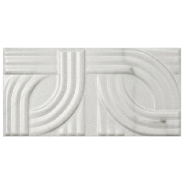 Karra Carrara 3 x 6 Ceramic Subway Tile in Matte Metropolis White/Gray by EliteTile