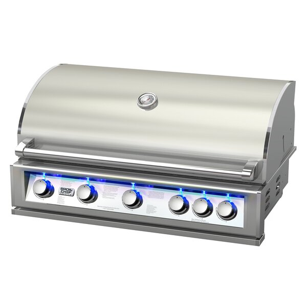 5-Burner Built-In Propane Gas Grill by BroilChef