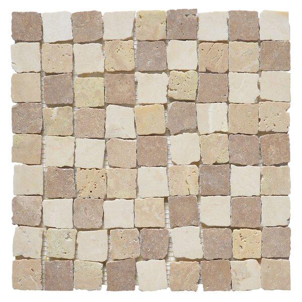 Rabat Pissaro 1.25 x 1.25 Marble Mosaic Tile in White/Yellow by Matrix Stone USA