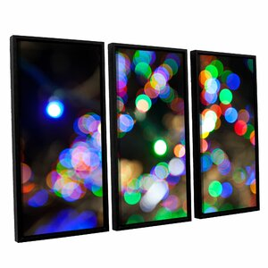 Bokeh 2 by Cody York 3 Piece  Framed Photographic Print on Canvas Set