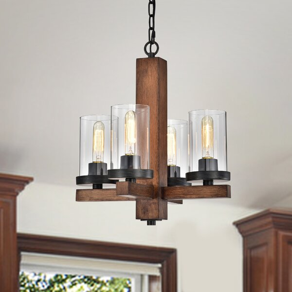 Azaria 4 - Light Candle Style Classic Chandelier by Union Rustic Union Rustic