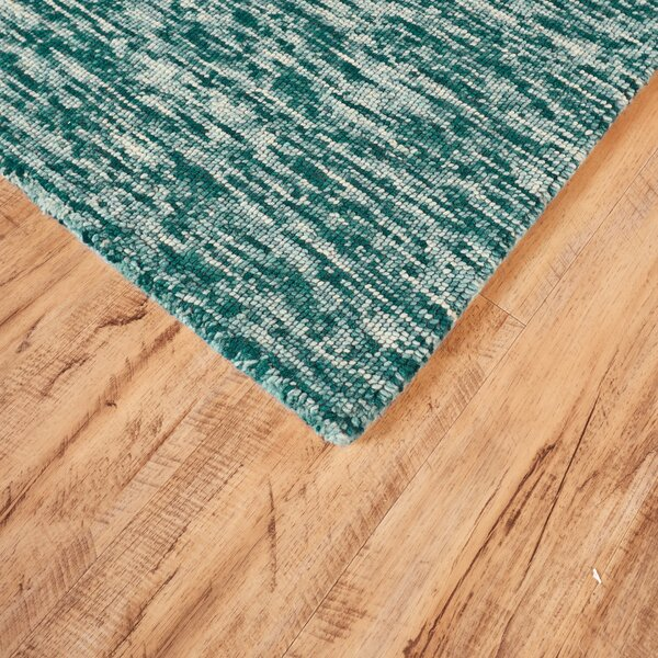 Rohan Hand Tufted Teal Area Rug by George Oliver