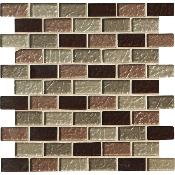 Ayres Mounted 1 x 2 Glass Mosaic Tile in Multi by MSI