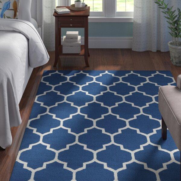 Bohannon Handmade Blue Geometric Area Rug by Andover Mills