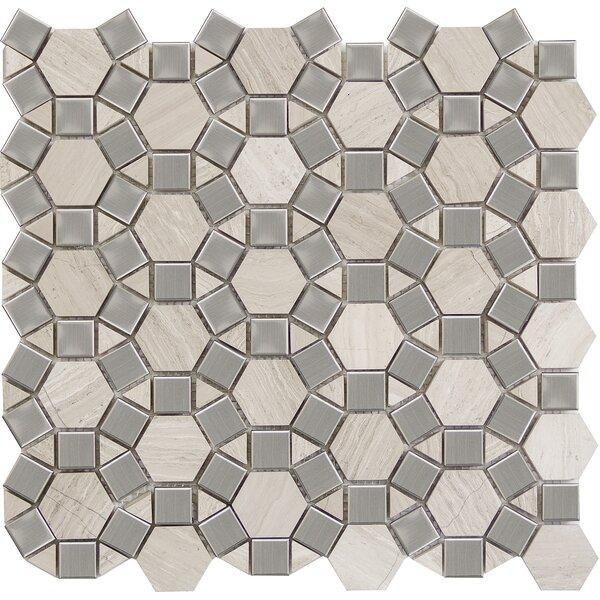 Metro Gem 1 x 1 Marble Mosaic Tile in Cream by Emser Tile