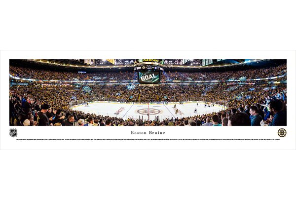 NHL Boston Bruins - Center Ice by Christopher Gjevre Photographic Print by Blakeway Worldwide Panoramas, Inc
