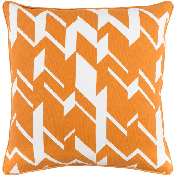 Antonia Square Cotton Throw Pillow by Langley Street