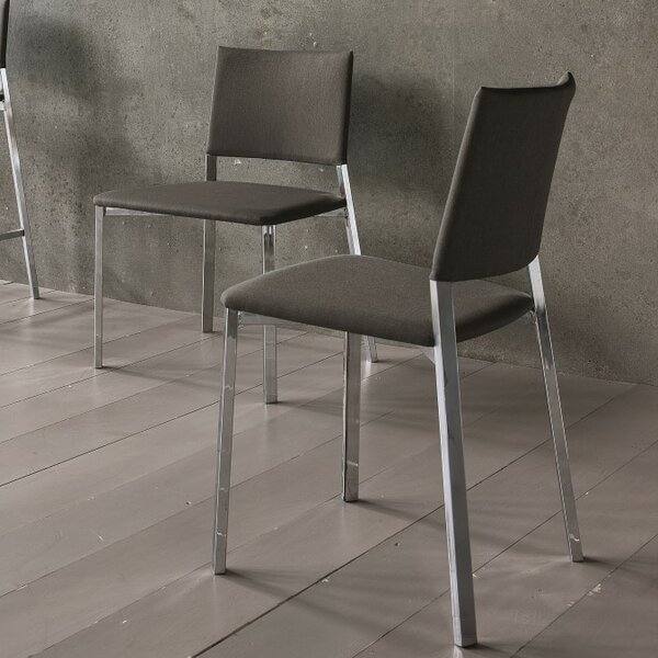 Kate Leather Upholstered Slat Back Dining Chair (Set Of 2) By YumanMod