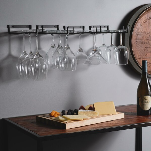 Wellman Chiraz Hanging Wine Glass Rack (Set of 4) by Rebrilliant Rebrilliant