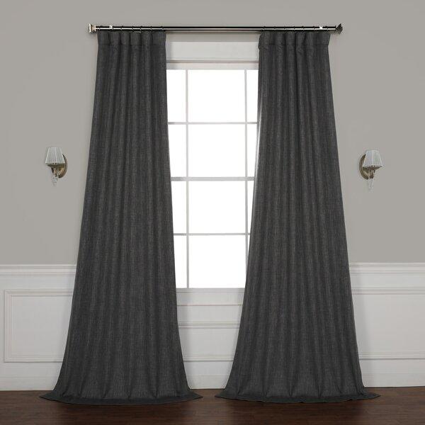 Manwaring Faux Linen Blackout Single Curtain Panel by Gracie Oaks
