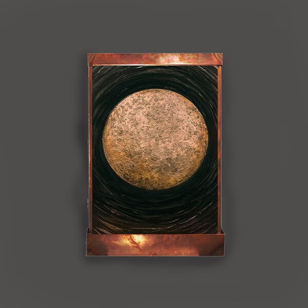 Copper and Acrylic La Luna Galaxy Fountain with Light by Harvey Gallery