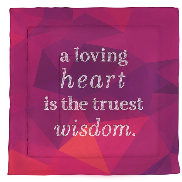 Love & Wisdom Quote Single Reversible Comforter