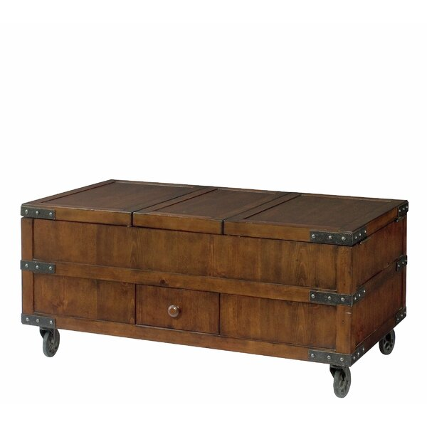 Evie Coffee Table with Storage by Williston Forge Williston Forge