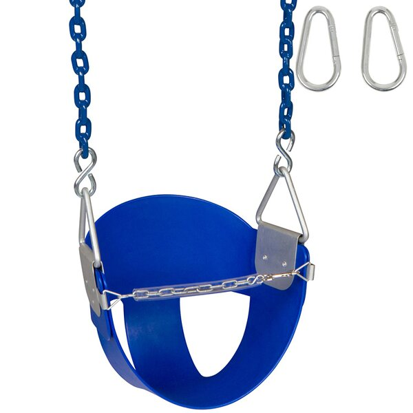 Highback Half Swing Seat with Coated Chains and Hooks by Swing Set Stuff