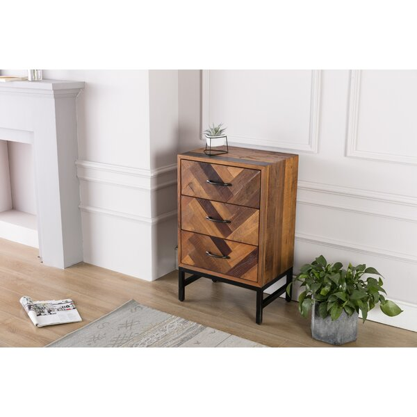 Murchison 3 Drawer Nightstand by Union Rustic