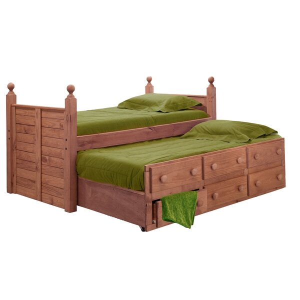 Cioffi Twin Mates & Captains Bed with Trundle and Drawers by Harriet Bee