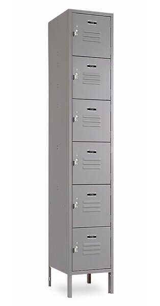 6 Tier 1 Wide Employee Locker by Jorgenson Lockers6 Tier 1 Wide Employee Locker by Jorgenson Lockers