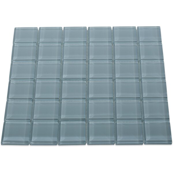 Contempo 2 x 2 Glass Mosaic Tile in Blue by Splashback Tile