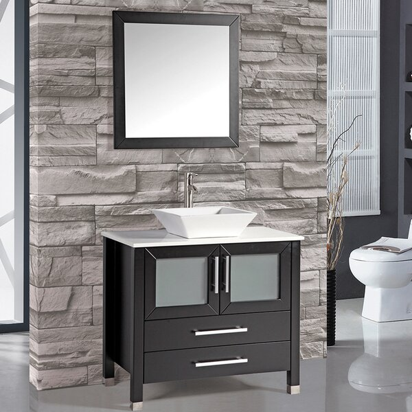 Bosarge 35 Single Bathroom Vanity Set with Mirror by Mercury Row