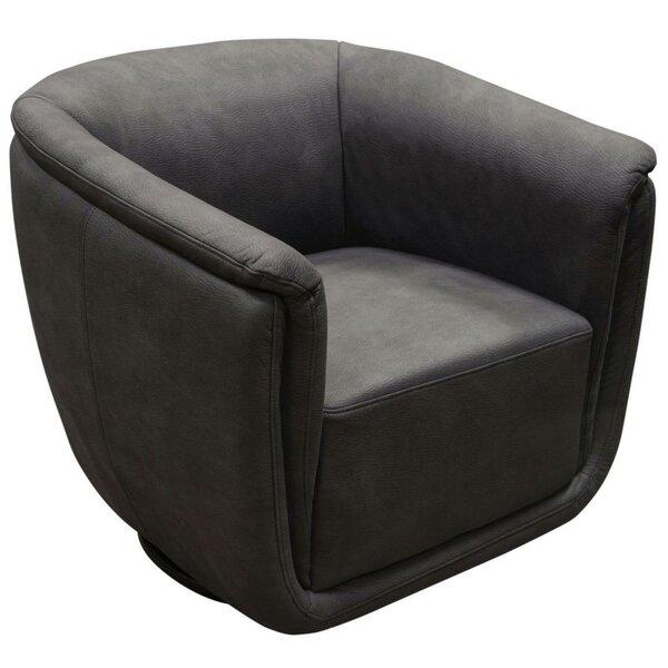 Manolla Fabric Upholstered Swivel Armchair by Latitude Run