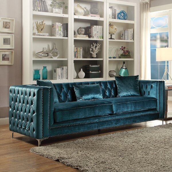 Kingsley Tufted Sofa by Everly Quinn Everly Quinn