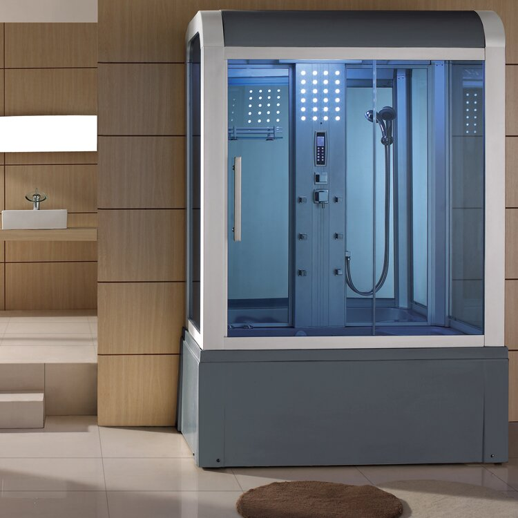 Eagle Bath Sliding Door Steam Shower Enclosure Unit & Reviews | Wayfair