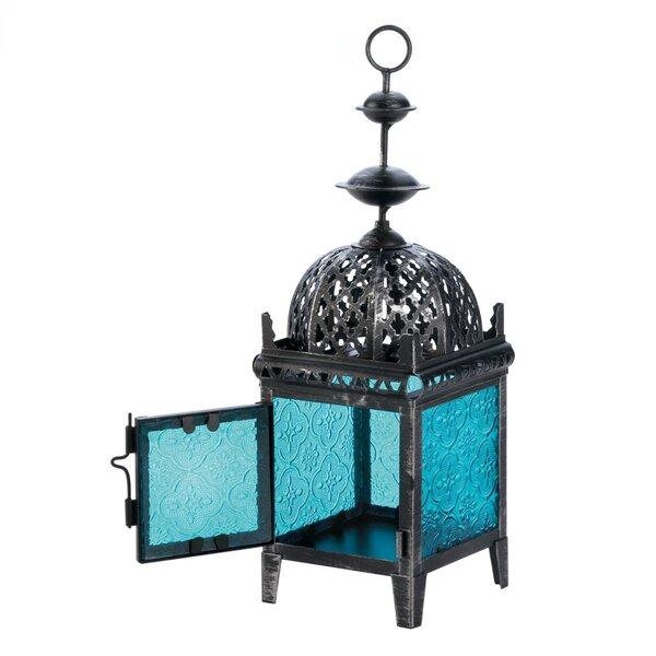 Medallion Iron and Glass Lantern by Zingz & Thingz