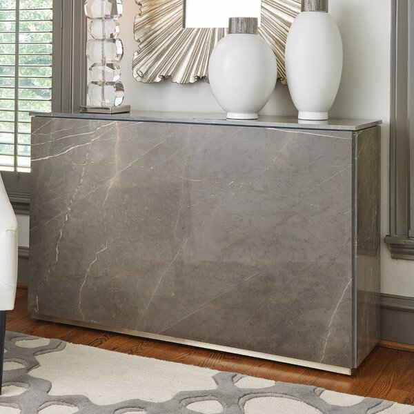 Graffito Marble Console Table By Global Views