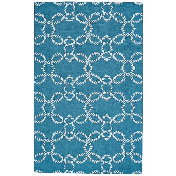Quayside Hand-Tufted Pacific Indoor/Outdoor Area Rug by Breakwater Bay