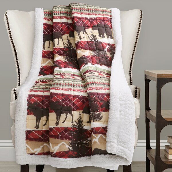 Maja Sherpa Throw by Millwood Pines