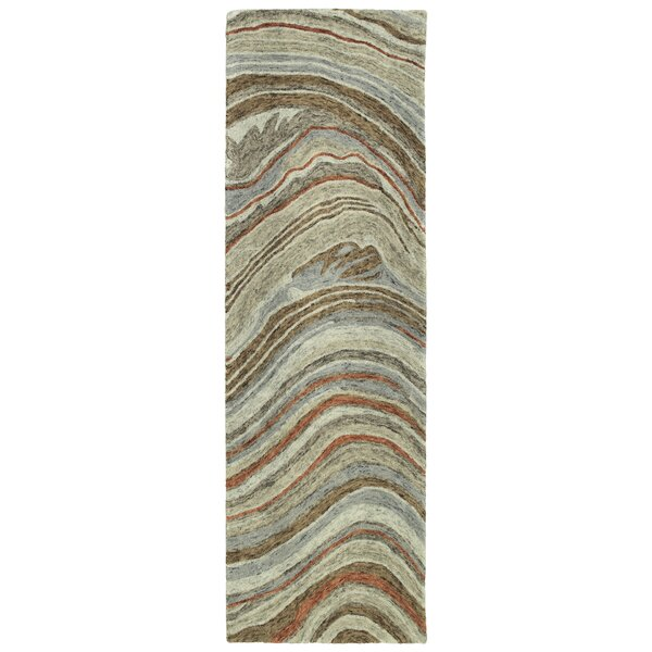 Bargas Hand Tufted Wool Grey/Brown Area Rug by Wade Logan