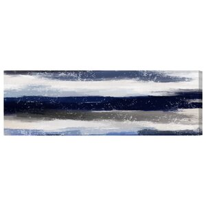 'Sapphire Shades Long' Painting Print on Wrapped Canvas by Mercury Row