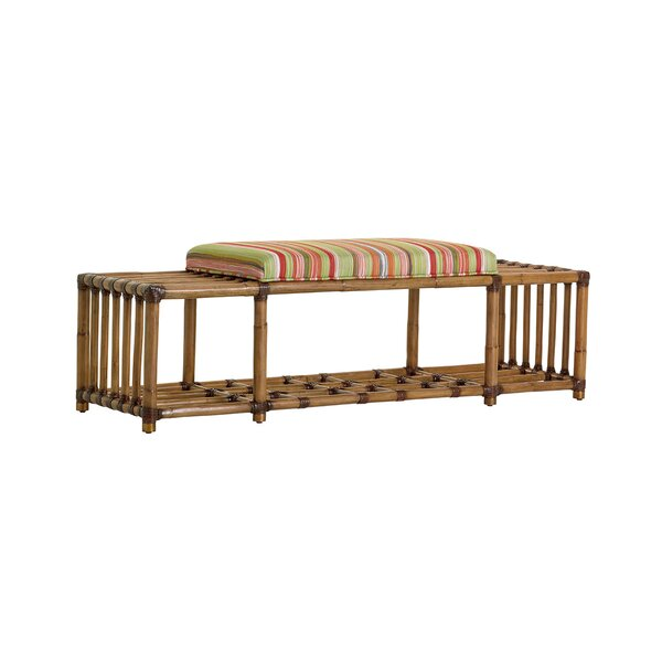 Twin Palms Seafarer Upholstered Storage Bench by Tommy Bahama Home